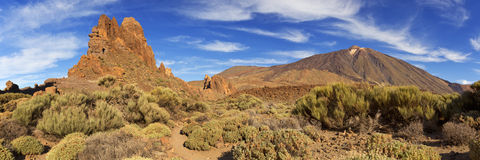 Rock formations in the Teide National Park on Tenerife Stock Photo