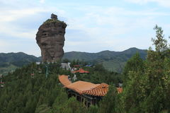 The Rock Formations with Temples of Chengde Royalty Free Stock Images