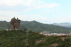 The Rock Formations with Temples of Chengde Royalty Free Stock Photo