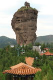 The Rock Formations with Temples of Chengde Royalty Free Stock Image