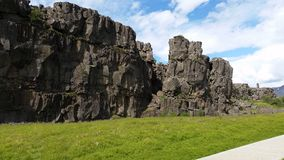 Rock formations from Thingvellir National Park Iceland royalty free stock photos