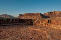 Rock formations on top of Al Ula old city fort, Saudi Arabia Stock Photo