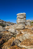 Rock formations of Torcal de Antequera Royalty Free Stock Images