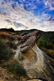 Rock formations in Ulmet-Bozioru village, Romania Stock Images