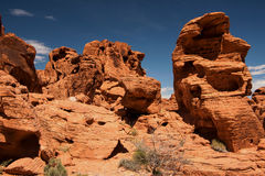 Rock Formations in Valley of Fire Royalty Free Stock Photography