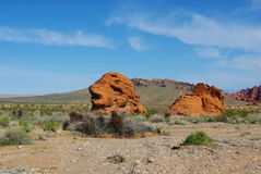 Rock formations, Valley of Fire, Nevada Stock Image