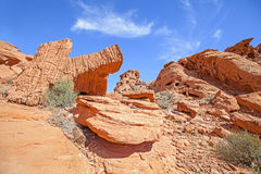 Rock formations in Valley of Fire State Park. Stock Photo