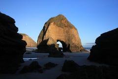 Rock formations at Wharariki Beach Stock Photography
