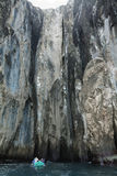 Rock formations of Witch Hill in San Cristobal island Royalty Free Stock Images