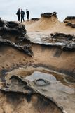 Rock Formations Yehliu Geopark Taiwan Stock Image
