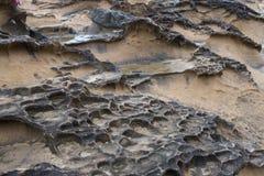 Rock formations Yehliu Geopark Taiwan. Rock erosion formations Yehliu Geopark, New Taipei, Taiwan royalty free stock photos
