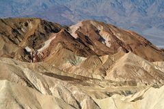 Rock formations at the Zabriskie Point Royalty Free Stock Images