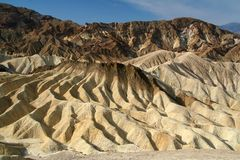 Rock formations at the Zabriskie Point Royalty Free Stock Photos