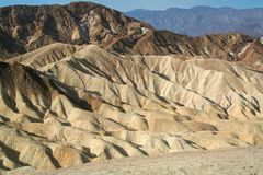 Rock formations at the Zabriskie Point Stock Photo