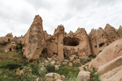Rock Formations in Zelve Valley, Cappadocia Stock Images