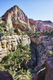Rock formations in the Zion Canyon Stock Photo