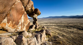 Rock Formaton in the desert of Utah. This photo was taken in the west desert of Utah Royalty Free Stock Photos
