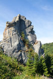 Rock fortress in Carpathian Mountains Royalty Free Stock Photo