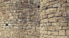 Rock fortress wall detail Royalty Free Stock Images
