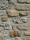 Rock foundation wall Stock Photo
