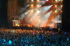 rock för 4 konsert Arkivbild