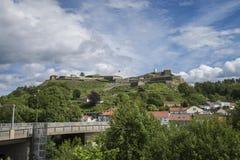Rock on Fredriksten fortress Stock Photo