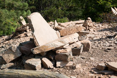 Rock Furniture Royalty Free Stock Image