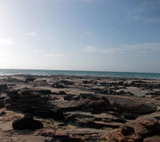 Rock garden on Cable Beach. Cable Beach is one of the top five beaches in the world and it is located near the township of Broome in Western Australia.  If you Royalty Free Stock Images