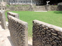 The Rock Garden of Chandigarh, India. Is a sculpture garden, also known as Nek Chand`s Rock Garden after its founder Nek Chand, a government official who stock image