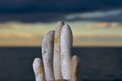 Rock Garden of Eden. A stack of stones on a beach Stock Images