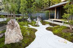 The rock garden in an Hase Temple Hasedera Royalty Free Stock Photo