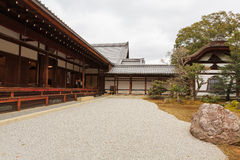 The rock garden Kinkaku-Ji temple in Kyoto Royalty Free Stock Image