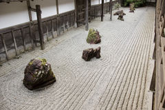 Rock garden in Kongobuji temple, Japan Stock Photography