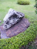 Rock garden and lawn Stock Photo