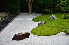 Rock garden and moss, Kyoto Japan. Stock Images