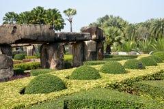 Rock-garden of park Nong Nooch Tropical Garden Thailand Royalty Free Stock Photos