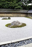 Rock garden at the Ryoan-ji temple in Kyoto, Japan. Stock Photography