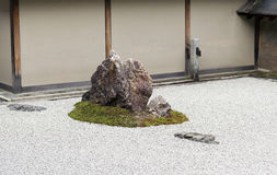 Rock Garden in Ryoanji Temple. Stock Photography