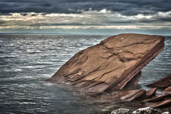 Rock in the Gaspé, québec, Canade Stock Image
