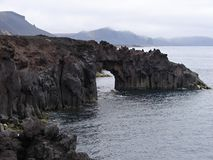 Rock gate on beach of Jan Mayen island Royalty Free Stock Photography
