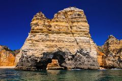 Rock gate,province the Algarve, Portugal Royalty Free Stock Images
