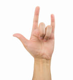 Rock on gesturing Stock Photos