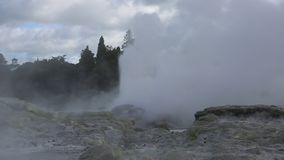 Rock and geysers stock video footage