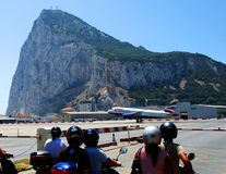 Gibraltar airport royalty free stock photography