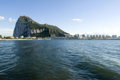 The Rock of Gibraltar royalty free stock photos
