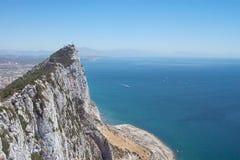 Rock of Gibraltar. The Rock of Gibraltar looking towards Spain Stock Photo