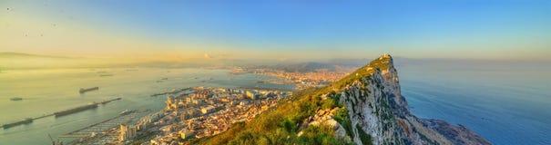 The Rock of Gibraltar, a British overseas territory Stock Photos