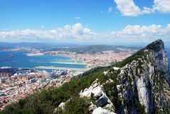 The Rock of Gibraltar. Royalty Free Stock Images