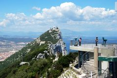 The Rock of Gibraltar. Royalty Free Stock Photography