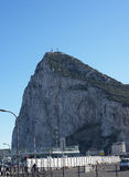 The Rock of Gibraltar at the entrance to the Mediterranean Sea Stock Image